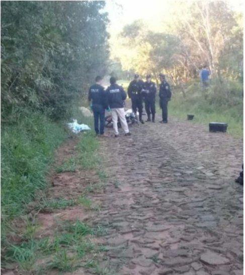 El crimen ocurrió en un camino vecinal de la compañía Ybyraty: Foto: Gentileza