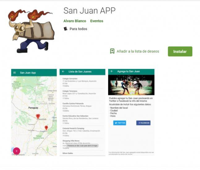 Crean App para saber dónde hay fiesta de San Juan