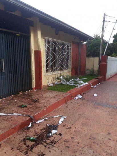 Así dejaron la casa de la fiscala Rosana Vázquez.