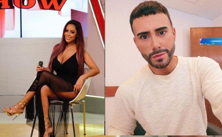 Muchos nervios. La modelo Jennifer Ruiz Díaz enfrentó al periodista Carlos Gómez.