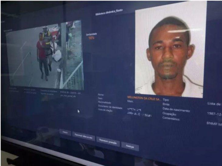 Wellington da Cruz Santos era buscado por un hecho de homicidio. Foto:g1.globo.com