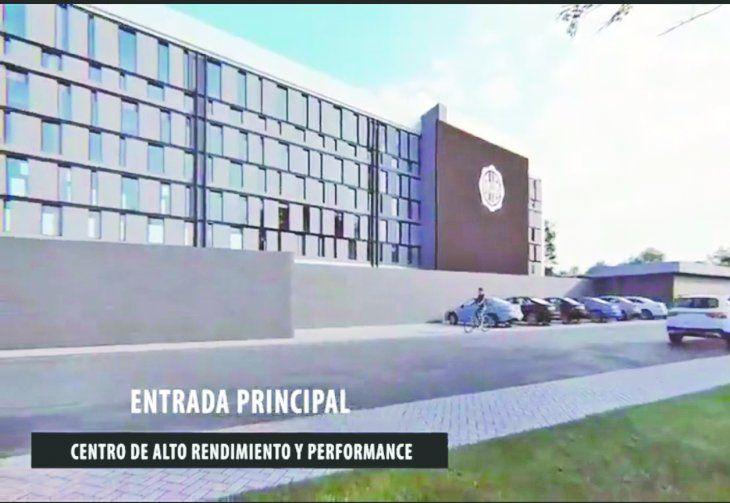 Fachada principal de lo que será el Centro de Entrenamiento. Foto: Captura