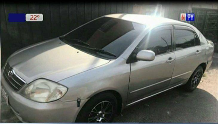 El auto fue ubicado en un estacionamiento de Asunción.