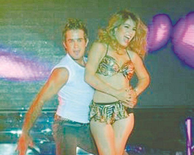 Carlos y Nadia en la pista del Baila.