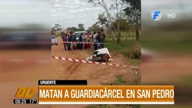 Sicarios acribillan a guardiacárcel a cuadras del penal de San Pedro