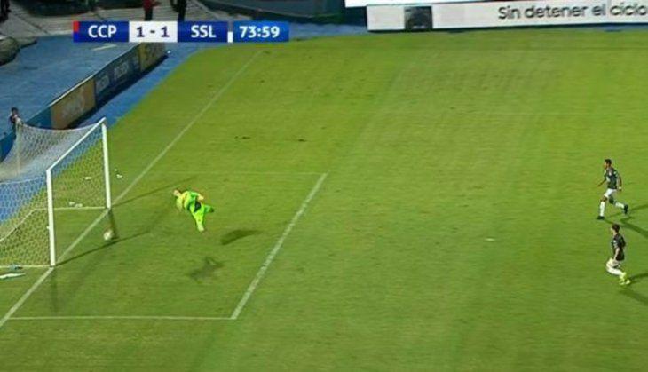 El gol fantasma provocó una serie de agresiones y escraches. Foto: Captura