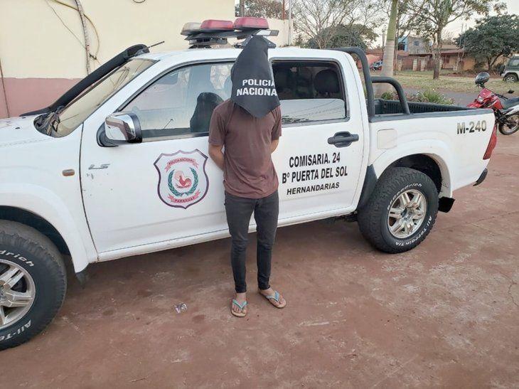 El joven está detenido en la Comisaría 24 de Hernandarias.