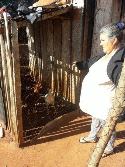 La doña dijo que solo 5 gallinas le quedan.