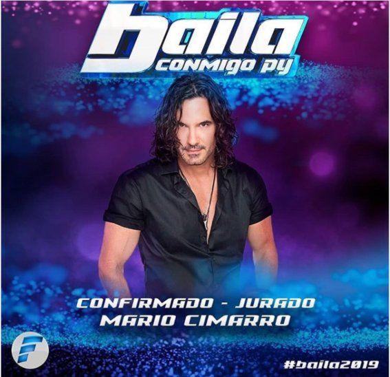 ¡El churrazo de Mario Cimarro será jurado en Baila Conmigo Py!