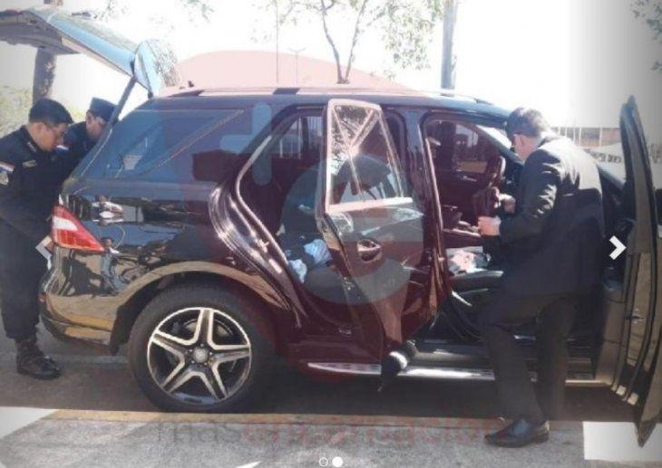 El auto fue peritado y después de eso soltaron al conductor