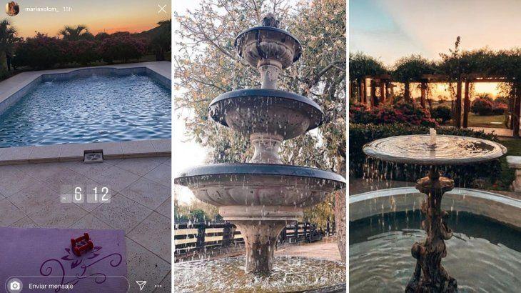 Impresionante las instalaciones de la estancia son un lujo, tiene piscina y fuentes de aguas.