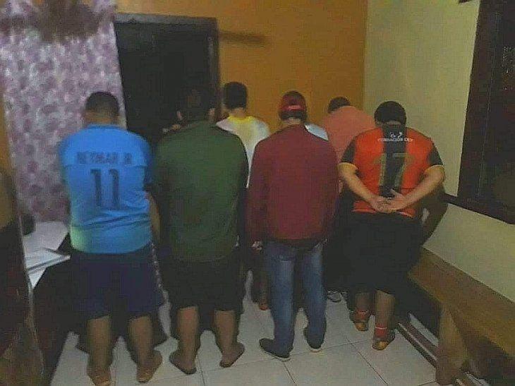 Los detenidos tenían entre 23 y 42 años.