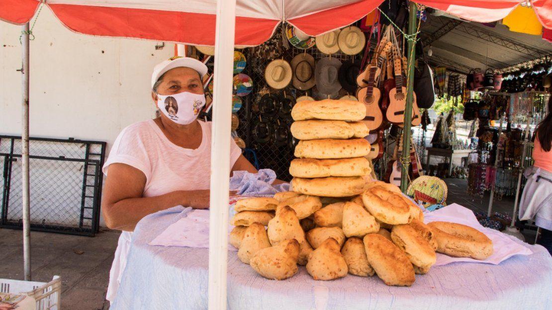 La tradicional chipa de Caacupé