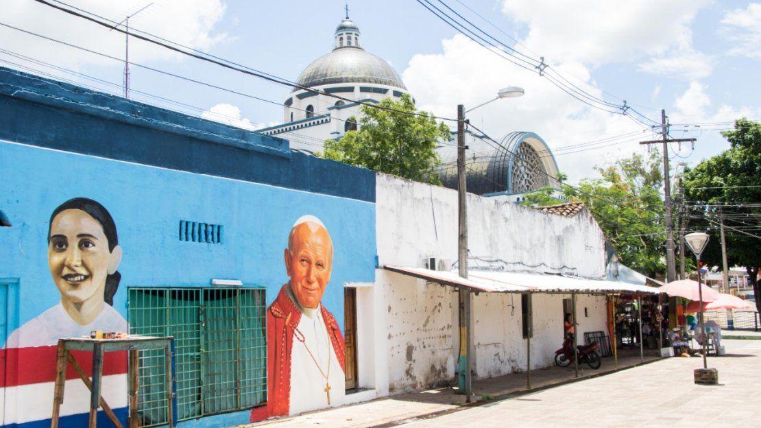 Chiquitunga en el mural.
