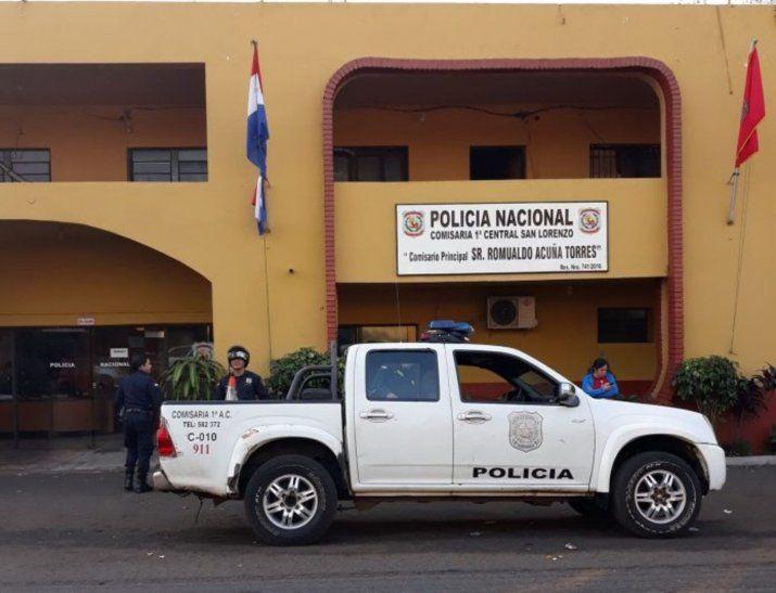 Los uniformados de la Comisaría Primera de San Lorenzo intervinieron el caso.