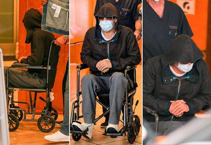 Brad Pitt trató de pasar desapercibido usando una capucha