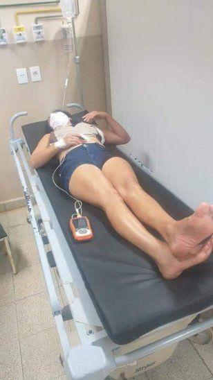 La mujer fue atendida en el Hospital Distrital de Hernandarias. Por suerte