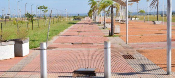 Más de 750 metros de cable ya robaron hasta el momento en la Costanera de Encarnación.