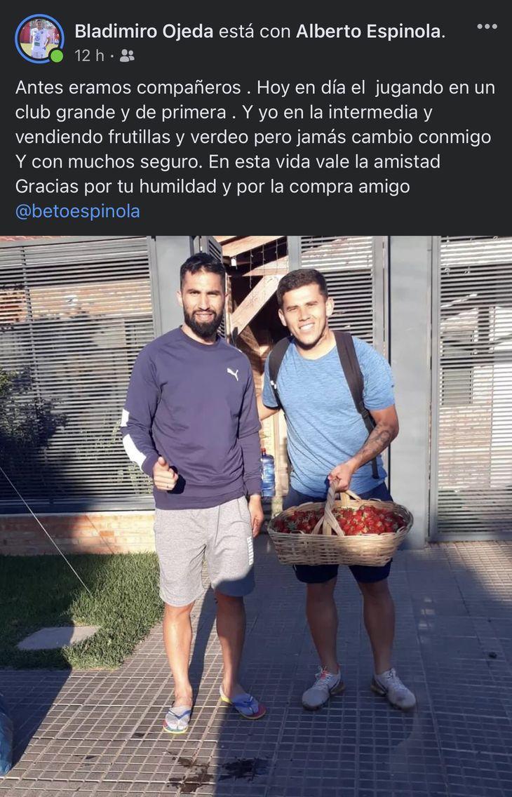 Beto Espínola y su compañero del Rubio Ñu