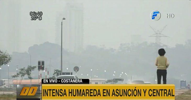 Imposible soportar el aire en la Costanera de Asunción.