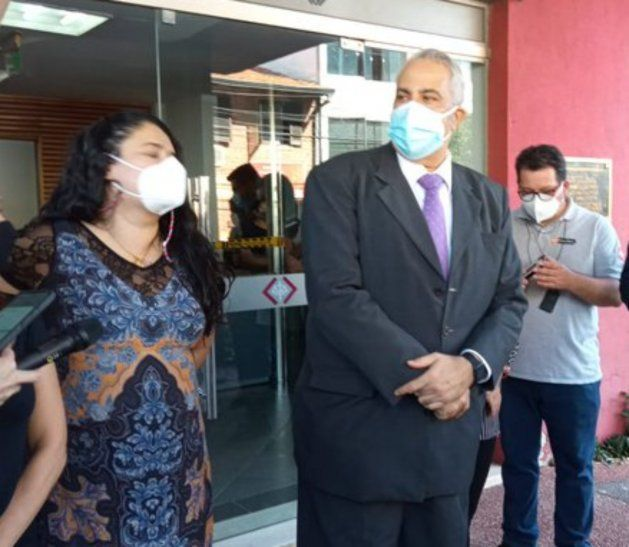 Fiscala Sara Torres y el fiscal Jorge Sosa