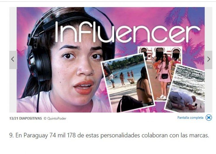 Paraguay está en el puesto 9 de los 15 países de Latinoamérica con más influencers. La plataforma internacional Influencity puso como ejemplo a Chenny TV
