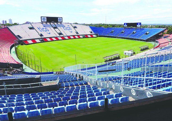 El estadio Defensores del Chaco está para ser uno de los centros de mando para afrontar al coronavirus.