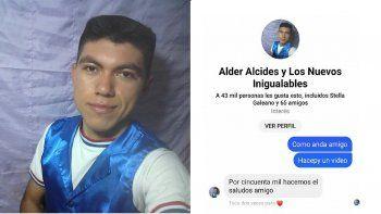 El joven Alder Alcides afirma que los comentarios negativos no le control. Señaló que ya grabó 9 canciones propias y que pronto lanzará su primer disco para realizar una gira por todo el país.