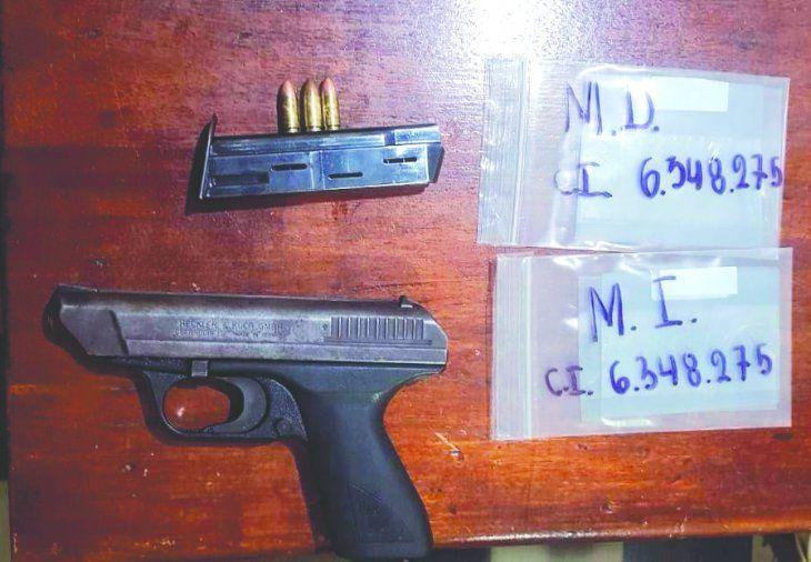 Detuvieron al marido con el arma usada y tres balas sin percutir.