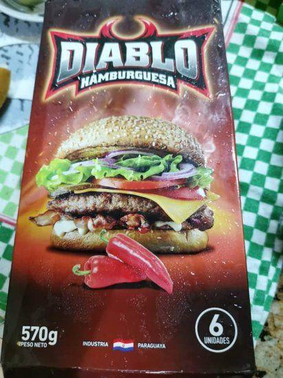 La polémica hamburguesa es uno de los productos del frigorífico Guaraní.