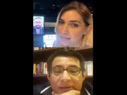 Esta imagen corresponde al video de una entrevista que Carmiña le hizo a Clari Arias y en un momento de la nota la periodista le pregunta si siempre le habla de manera argel a su patrona.