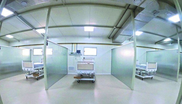 Ayer fue habilitado un pabellón de contingencia en el Hospital General de Luque
