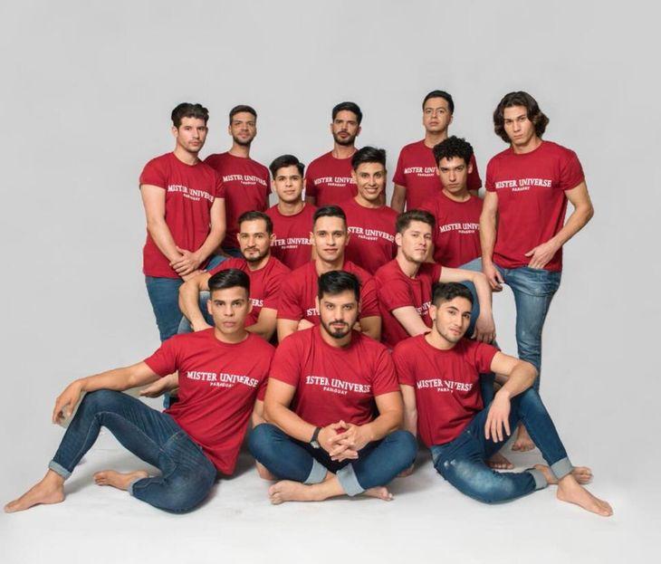 Los 14 candidatos a Mister Universe Paraguay fueron presentados ayer en la página oficial del certamen.