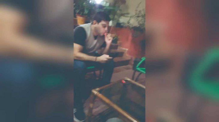 """El concejal no afirmó ni negó que fumó marihuana. No obstante llamó """"careta"""" a Bounyermini."""