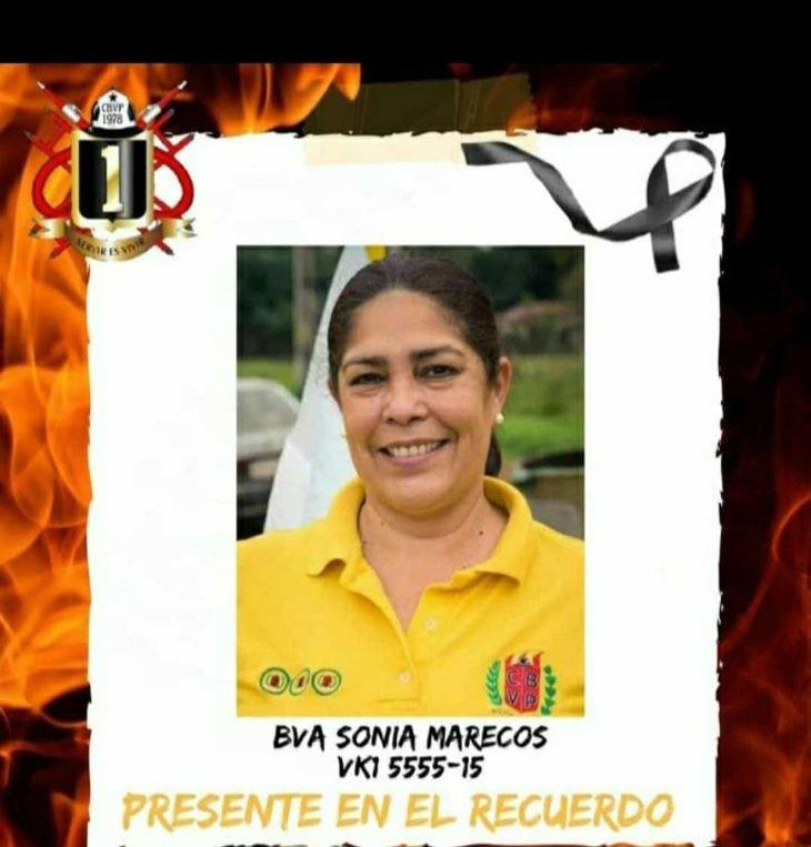 Sonia Marecos tenía muy buenas referencias entre sus camaradas.