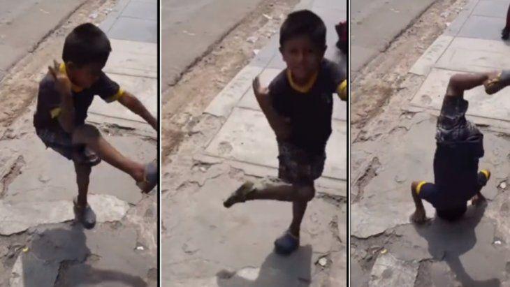 El niño peruano se volvió famoso por su peculiar baile.