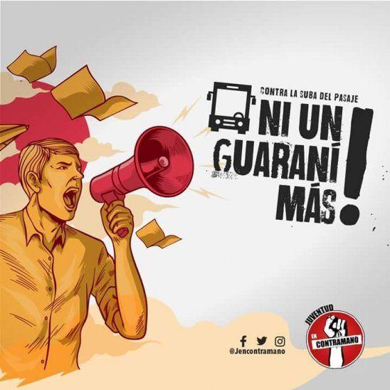 Anuncian protesta contra suba del pasaje este lunes
