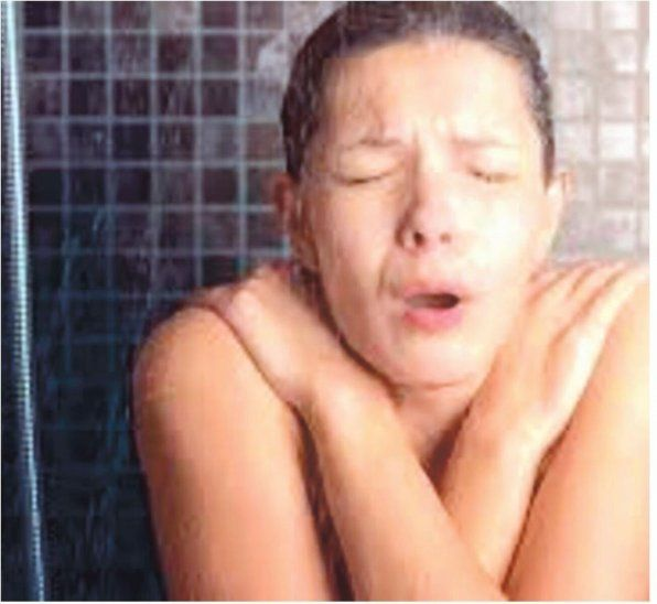 Menos tiempos en el baño. El tiempo bajo la ducha también es menor ahora que hace frío