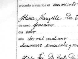Después de casi 24 horas, el Registro Civil realizó la inscripción de nacimiento de la pequeña Alex Naryelle. Su segundo nombre había causado dudas en el ente público.