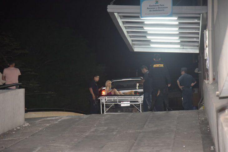 El herido fue trasladado al Hospital del Trauma.