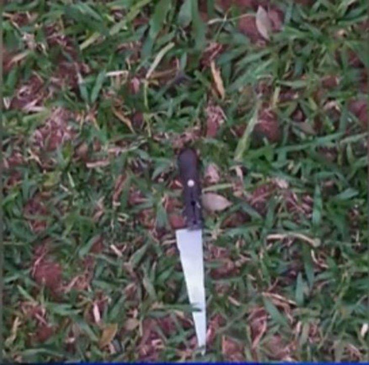 El cuchillo utilizado en el intento de feminicidio.