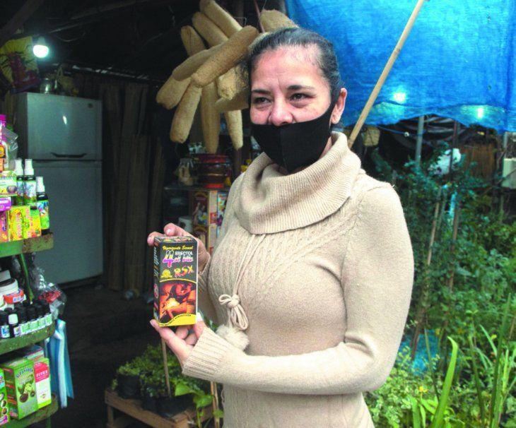 La vendedora Nilda Martínez