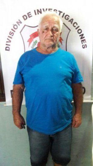 Amancio Sánchez Meneses cuando fue detenido en el 2017.