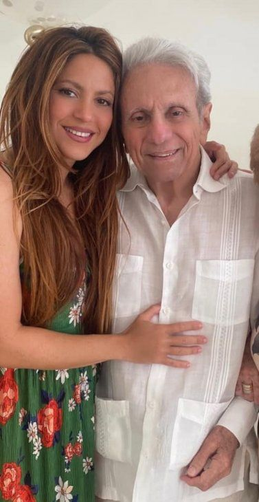 Shakira y su papá