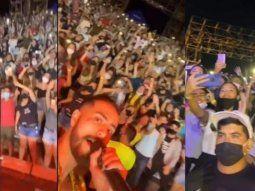 En las imágenes se puede ver a una multitud coreando las canción de Joshua sin el distanciamiento social recomendado. Debido a esto se suspendieron todos los eventos en el Anfiteatro.