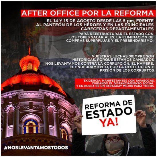 Hoy inicia una serie de manifestaciones de ciudadanos que están hartos de la corrupción de los políticos. Una de las protestas más importantes será realizada mañana en inmediaciones del Panteón de los Héroes